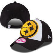 Pittsburgh Steelers New Era Women's Glitter Glam 9FORTY Adjustable Hat - White