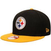 Pittsburgh Steelers New Era Bind Back 9FIFTY Adjustable Hat - Black