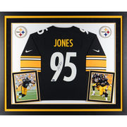 Jarvis Jones Pittsburgh Steelers Fanatics Authentic Deluxe Framed Autographed Nike Game Jersey