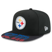 Pittsburgh Steelers New Era Super Bowl XIII On The Fifty Jumbo Vize Original Fit 9FIFTY Adjustable Hat - Black