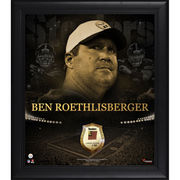 Ben Roethlisberger Pittsburgh Steelers Fanatics Authentic Framed 15'' x 17'' Golden Collage with piece of Game-Used Football - Limited Edition of 50