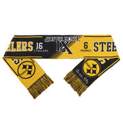 Pittsburgh Steelers Super Bowl IX On the Fifty Acrylic Scarf