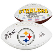 Jack Lambert Pittsburgh Steelers Fanatics Authentic Autographed White Panel Football with HOF Inscription