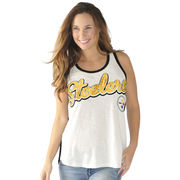 Pittsburgh Steelers G-III 4Her by Carl Banks Women's Extra Point Tank Top - White