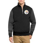 Pittsburgh Steelers '47 Triple Coverage Quarter-Zip Sweatshirt - Black