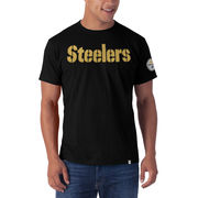 Pittsburgh Steelers '47 Fieldhouse Applique T-Shirt - Black