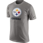 Pittsburgh Steelers Nike Facility T-Shirt - Heathered Gray
