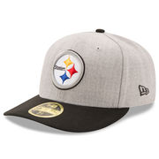 Pittsburgh Steelers New Era Super Bowl X Champions Classic Low Profile 59FIFTY Fitted Hat - Heathered Gray/Black