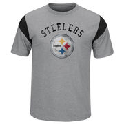Pittsburgh Steelers Majestic Pure Heritage T-Shirt - Gray