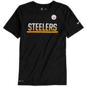 Pittsburgh Steelers Nike Youth Team Practice Performance T-Shirt - Black