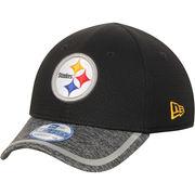 Pittsburgh Steelers New Era Toddler Training Camp 39THIRTY Flex Hat- Black/Heathered Gray