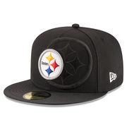 Pittsburgh Steelers New Era Youth 2016 Sideline Official 59FIFTY Fitted Hat - Black