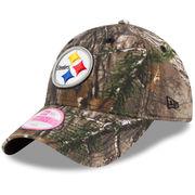Pittsburgh Steelers New Era Women's Preferred Pick 9TWENTY Adjustable Hat - Realtree Camo
