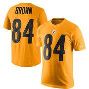 Antonio Brown Pittsburgh Steelers Nike Player Pride Name & Number T-Shirt - Gold