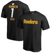 Pittsburgh Steelers NFL Pro Line Number 1 Dad T-Shirt - Black