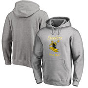 Pittsburgh Steelers NFL Pro Line Throwback Logo Pullover Hoodie - Gray