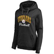 Pittsburgh Steelers NFL Pro Line Women's Victory Script Pullover Hoodie - Black