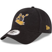 Pittsburgh Steelers New Era Throwback Logo Legacy Relaxed 49FORTY Fitted Hat - Black