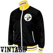 Pittsburgh Steelers Vintage Preseason Full Zip Jacket - Black